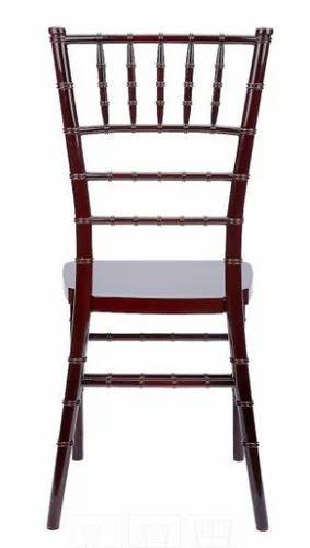 Brown Steel Chiavari Chair, Dimension: 430 X 390 X 920 Mm