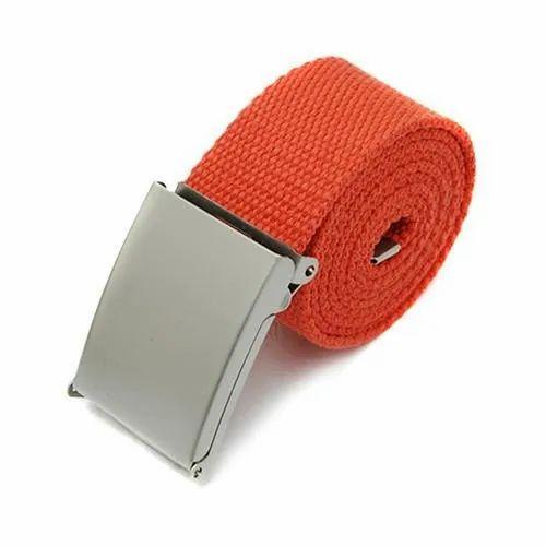 Harvelle Orange Canvas Belt