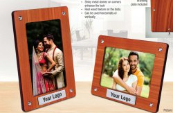 Polished Brown Wooden photo frame, For Home, Size: a4
