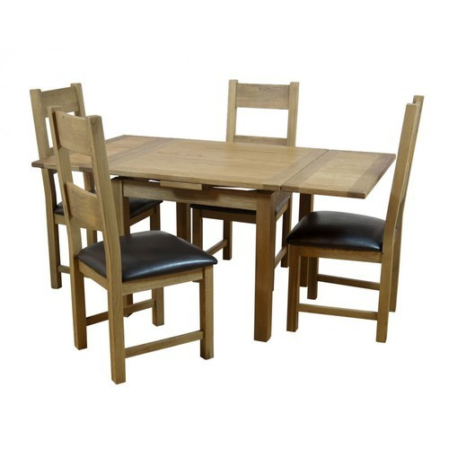 Wooden Compact Dining Table Set