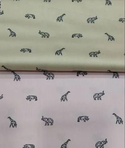 Satin Printed Shirting Fabrics