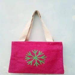 Pink Jute Hand Bag