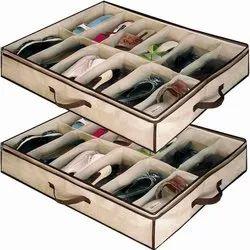 12 Pairs Under Bed Storage Shoe Rack