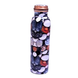 Stone Digital Meena Print Copper Bottle