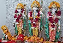 Marble Ram Parivar Statues