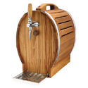 Krome Dispense Brown Oak Barrel 1 Tap Over Counter Chiller Machine