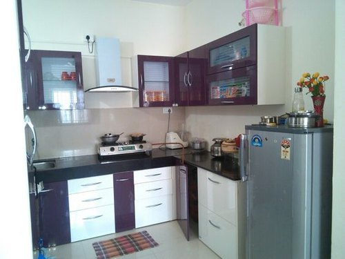 Wooden Modular Kitchen In Small Space Rs 45000 Set Woodangle Furniture Interior Id 20547947588