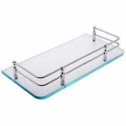 Klaxon Bathroom Glass Shelf