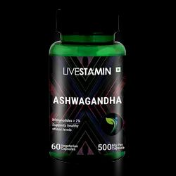 Ashwagandha Capsules Indian Ginseng 7% Withaniolides Herbal Supplement