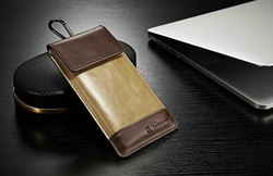 Brown Leather Pouch Cover, Size: 4.7 Inch