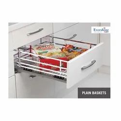 Stainless Steel Plain Pull Out Basket