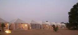 Canvas Pyramid Shikar Tent, Size: 14*28 Feet, Capacity: 3-5 People