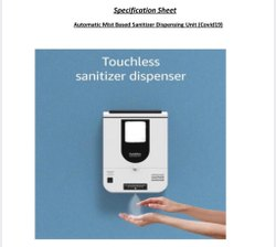Automatic Mist Spray Based Sanitizer Dispenser Machine