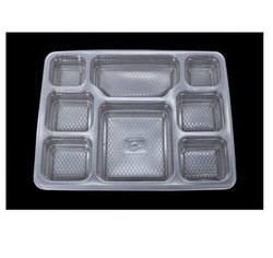 Disposable 8 Compartment Plastic Meal Tray For Food Takeaways