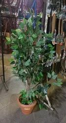 Plastic Silk And Rubber YOUR REQIRMRNT Artificial Tree Plant, Size: 4 Feet P,Luse