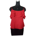 Ladies Red Sleeveless Top