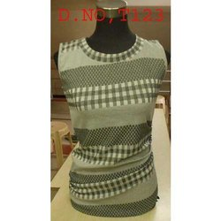 Cotton Printed Round Neck Ladies Top