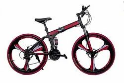 3 Spokes Foldable Cycle Black Color