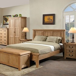Sleigh Wooden Bed