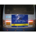 Iron Outdoor Bus Back Panel Advertisement Service