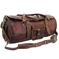Vintage Leather Luggage Travel Bag