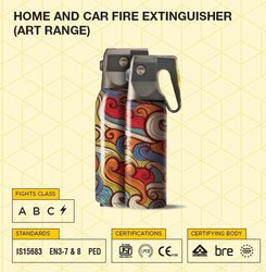 A B C Dry Powder Type A B C, ELECTRICAL Home And Car Fire Extinguisher (Art Range), Capacity: .5 KG