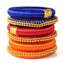 Indian Handmade Multicolor Silk Thread Bangle Set