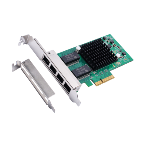 Eira Pci E 4 Port Gigabit Ethernet Controller Card (intel C