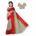 Cotton Saree With Jhalar