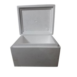 White Plain Thermocol Packaging Box, Density: <10, Capacity: 10 L