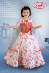 Red and Blue Party Wear Gown