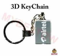 3D Crystal Key Chain