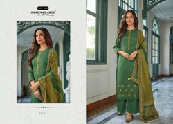 Cotton Straight Shahnaz Panihar Suits With Exclusive Self Embroidery