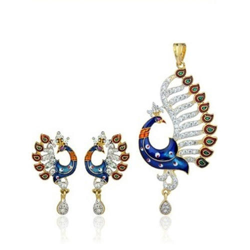 Ladies peacock designer pendant set at rs 400 set mayur vihar ladies peacock designer pendant set mozeypictures Choice Image