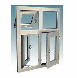 White Aluminum Section Window