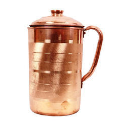 Gold Plated Copper Water Jug
