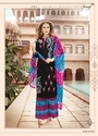 Cotton Embroidered Semi-Stitched Palazzo Suit