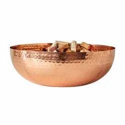 Copper Hammered Designer Bowl for Table
