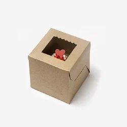 1K One Cupcake Box with Window & Insert