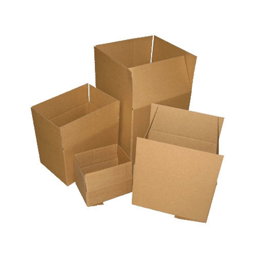 Natural Kraft And Goldenyellow Corrugated Carton