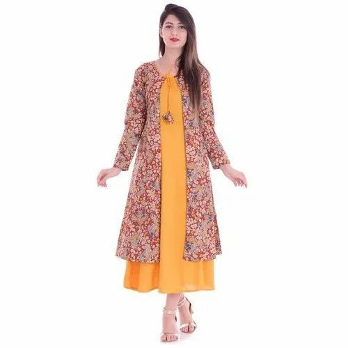 Ladies Boat Neck Layer Kurti