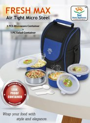 SS Microwave Tiffin Lunch Box, Capacity: 300 mL