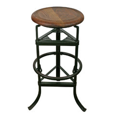 Industrial Bar Stool With Tripod Base, Industrial furniture