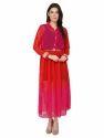 Bedazzle Women Maxi Dark Pink With Belt Dress