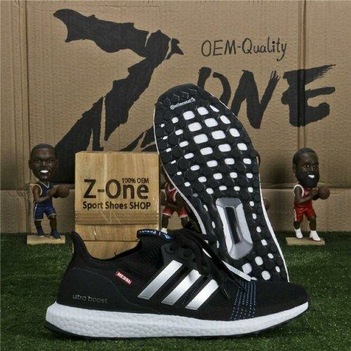 Black Mesh Adidas Ultraboost Shoes