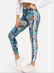 Polyester Straight Fit Women Gym Tights Leggings