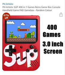 400 in 1 SUP GAMING GADGETS with Mario game
