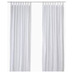 White Cotton Plain Window Curtain, Size: 7x4 Feet