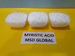 Solid And Crystals, Myristic Acid 99%, Usage: Industrial, Laboratory