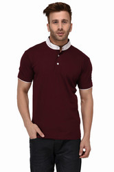 Men Half Sleeve Polo Neck T-Shirt